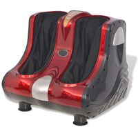 vidaXL Shiatsu Foot and Calf Massager Red