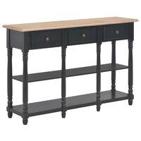 vidaXL Console Table Black 120x30x76 cm MDF