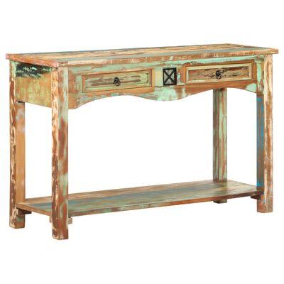 vidaXL Console Table 120x40x75 cm Solid Reclaimed Wood