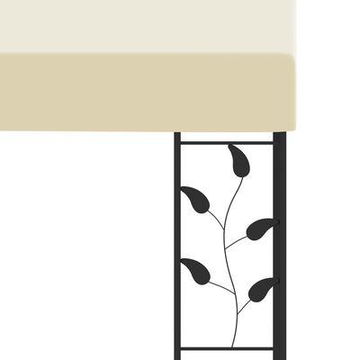 vidaXL Wall-mounted Gazebo 3x3x2.5 m Cream