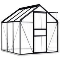 vidaXL Greenhouse with Base Frame Anthracite Aluminium 3.61 m²