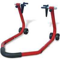 vidaXL Motorcycle Front Stand Red