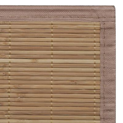 Rectangular Brown Bamboo Rug 120 x 180 cm