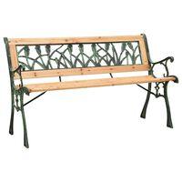 vidaXL Garden Bench 122 cm Cast Iron and Solid Firwood