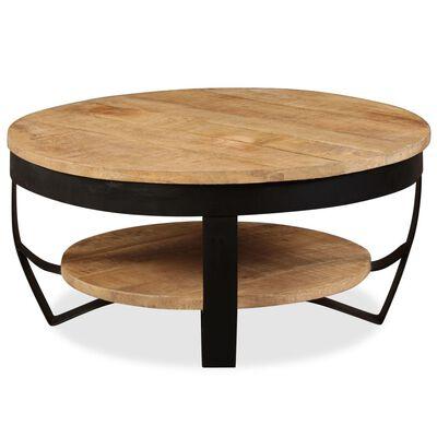 vidaXL Coffee Table 65 cm Solid Rough Mango Wood