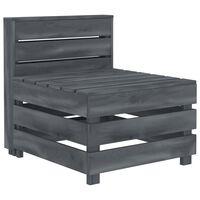 vidaXL Garden Pallet Sofa Wood Grey