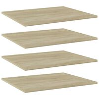 vidaXL Bookshelf Boards 4 pcs Sonoma Oak 60x50x1.5 cm Chipboard