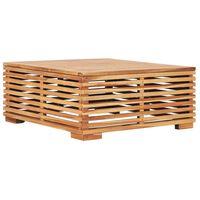 vidaXL Garden Table 69.5x69.5x31 cm Solid Teak Wood