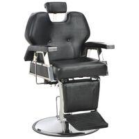 vidaXL Barber Chair Black 72x68x98 cm Faux Leather,