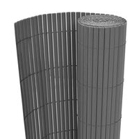 vidaXL Double-Sided Garden Fence PVC 90x300 cm Grey