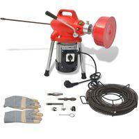 vidaXL Pipe Cleaning Machine 250 W 12.5mx16mm 4.5mx9.5mm