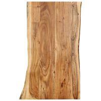 vidaXL Table Top Solid Acacia Wood 100x(50-60)x2.5 cm