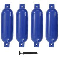 vidaXL Boat Fender 4 pcs Blue 51x14 cm PVC