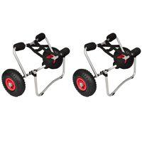 vidaXL Kayak Trolleys 2 pcs Aluminium