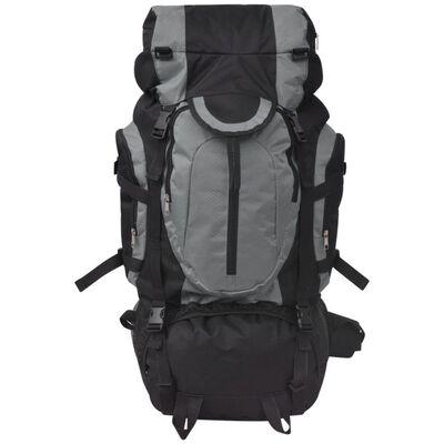 vidaXL Hiking Backpack XXL 75 L Black and Grey