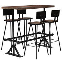 vidaXL Bar Set 5 Piece Solid Reclaimed Wood