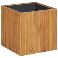 vidaXL Garden Raised Bed Pot 43.5x43.5x44 cm Solid Acacia Wood