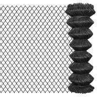 vidaXL Chain Link Fence Steel 25x1.25 m Grey
