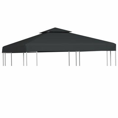 Water-proof Gazebo Cover Canopy 310 g / m² Dark Grey 3 x 3 m