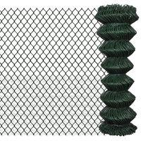 140350 vidaXL Chain Link Fence Steel 1,25x25 m