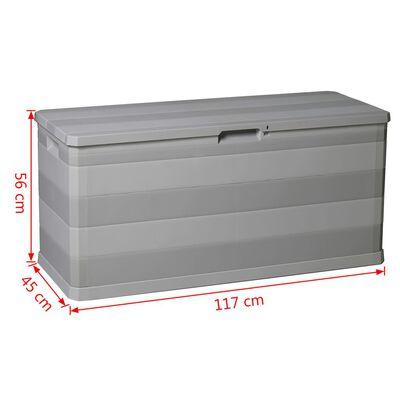 vidaXL Garden Storage Box Grey 117x45x56 cm