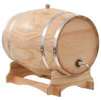 vidaXL Wine Barrel with Tap Solid Pinewood 35 L