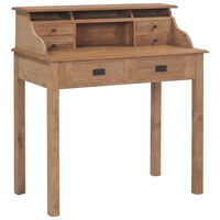 vidaXL Desk 90x50x100 cm Solid Teak Wood