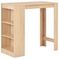 vidaXL Bar Table with Shelf Oak 110x50x103 cm