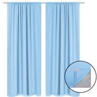 vidaXL Blackout Curtains 2 pcs Double Layer 140x245 cm Turquoise