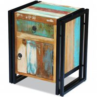 vidaXL Bedside Cabinet Solid Reclaimed Wood