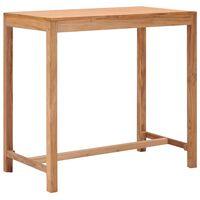 vidaXL Garden Bar Table 110x60x105 cm Solid Teak Wood