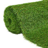 vidaXL Artificial Grass 1x10 m/40 mm Green