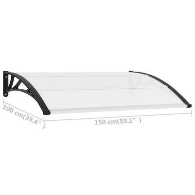 vidaXL Door Canopy 150 x 100 cm PC