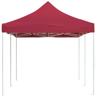 vidaXL Professional Folding Party Tent Aluminium 6x3 m Wine Red