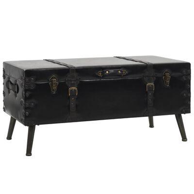 vidaXL Coffee Table MDF and Steel 102x51x48 cm