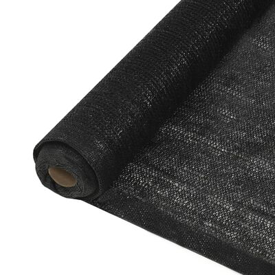 vidaXL Privacy Net HDPE 1x10 m Black