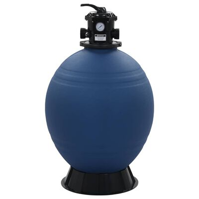 vidaXL Pool Sand Filter with 6 Position Valve Blue 660 mm