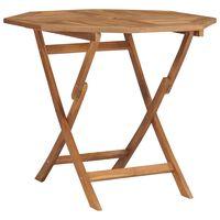 vidaXL Folding Garden Table 85x85x76 cm Solid Teak Wood
