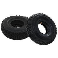 vidaXL 2 Tyres 2 Inner Tubes 3.00-4 260x85 for Sack Truck Wheel Rubber