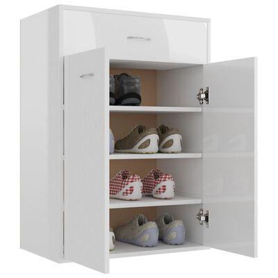 vidaXL Shoe Cabinet High Gloss White 60x35x84 cm Chipboard