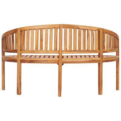 vidaXL Banana Bench 151 cm Solid Teak Wood