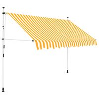 vidaXL Manual Retractable Awning 250 cm Orange and White Stripes