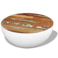 vidaXL Bowl Shaped Coffee Table Solid Reclaimed Wood 60x60x30 cm