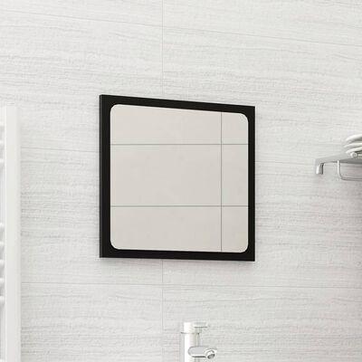 vidaXL Bathroom Mirror Black 40x1.5x37 cm Chipboard