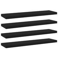 vidaXL Bookshelf Boards 4 pcs Black 40x10x1.5 cm Chipboard