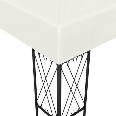 vidaXL Gazebo 3x6 m Cream Fabric