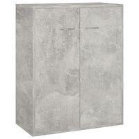 vidaXL Sideboard Concrete Grey 60x30x75 cm Chipboard