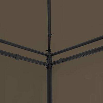 vidaXL Gazebo 600x298x270 cm Taupe 180 g/m²