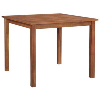 vidaXL Garden Table 85x85x74 cm Solid Acacia Wood