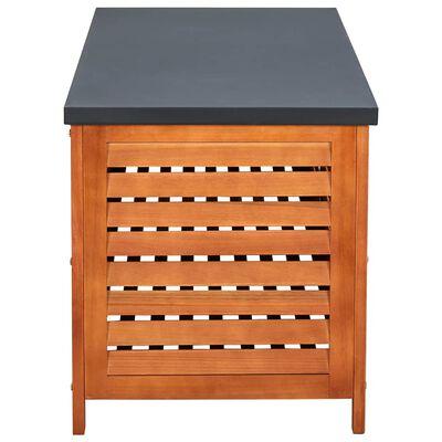 vidaXL Garden Storage Box 117x50x55 cm Solid Eucalyptus Wood